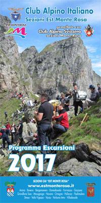 Scarica e leggi il programma completo delle escursioni 2017 delle Sezioni C.A.I. 'Est Monte Rosa'