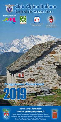 Scarica e leggi il programma completo delle escursioni 2019 delle Sezioni C.A.I. 'Est Monte Rosa'