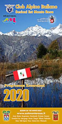 Scarica e leggi il programma completo delle escursioni 2020 delle Sezioni C.A.I. 'Est Monte Rosa'