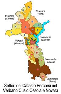 Settori del Catasto Percorsi nel Verbano Cusio Ossola e Novara